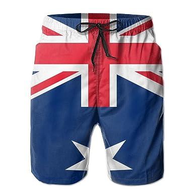 756b366889 Leisue Australia Flag Quick Dry Elastic Lace Boardshorts Beach Shorts Pants Swim  Trunks Fun Men Swimsuit