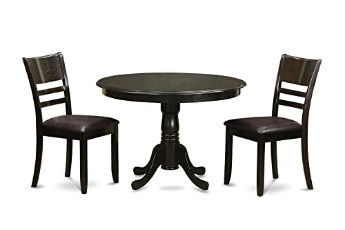 HLLY3-CAP-LC 3 PC Kitchen nook Dining set-Dining Table and 2 dinette Chairs