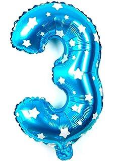 takestop/® Palloncino Numero 7 Oro 35CM con Elio O Aria Pallone Decorazione Compleanno Animazione Feste Party Festa Compleanni