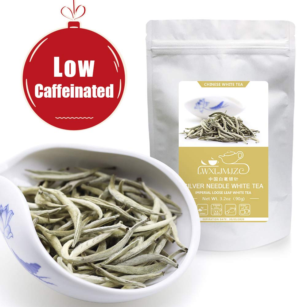 100% Natural Imperial Silver Needle White Tea - 2019yr Silver Tips Chinese White Tea 270g/9.6oz - (135Cups) -World's Healthiest Tea Type- Bai Hao Yin Zhen Loose Leaf Tea - Low Caffiene & Anti-Oxidants