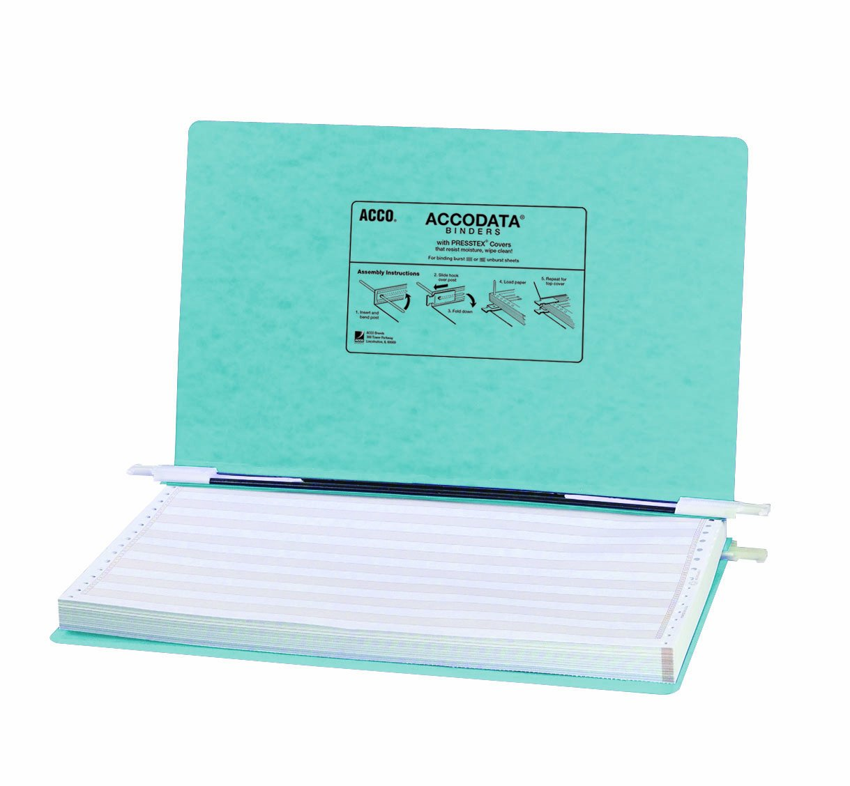 Acco Pressboard Hanging Data Binder, 14.875 X 8.5-Inch, Light Blue (54042)