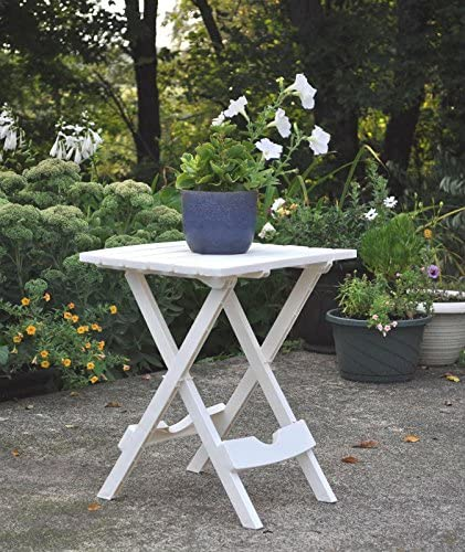 Adams Quik Fold Side Table Wht
