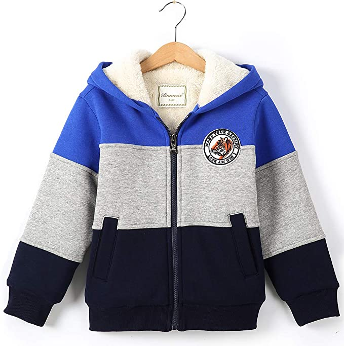 Simple Joys by Carters Toddler Boys Hooded Fleece Jacket with Sherpa Lining