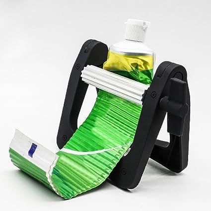 TAKEMORE7 Dispensador de pasta de dientes multifunción, portátil, de aleación de aluminio, apretador