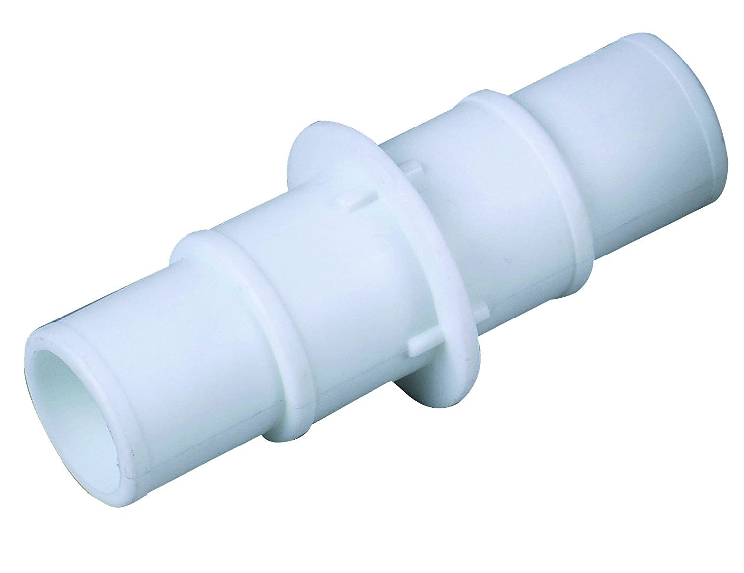 well2wellness ® White Universal Hose Connector for 32 and 38 mm, Reduce from 38 to 32 mm Pool + Sauna Bräunig GmbH