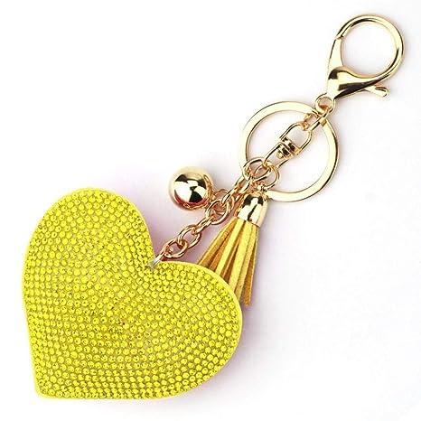 Amazon.com: Llavero con forma de corazón de diseño romántico ...