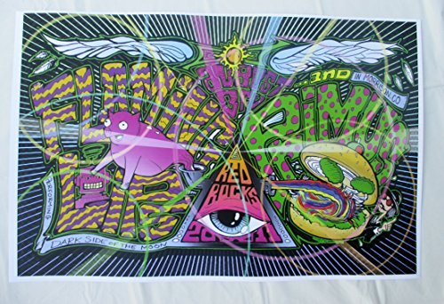 2011 Primus Flaming Lips Concert Poster Burger and Pig