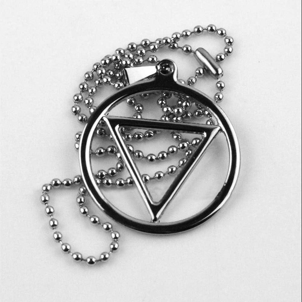NANLAI Hidan Halskette Naruto Ninja Halskette Dreieck Kette aus Legierung Cosplay Dekoration Geschenk 1 St/ück Unisex Silber