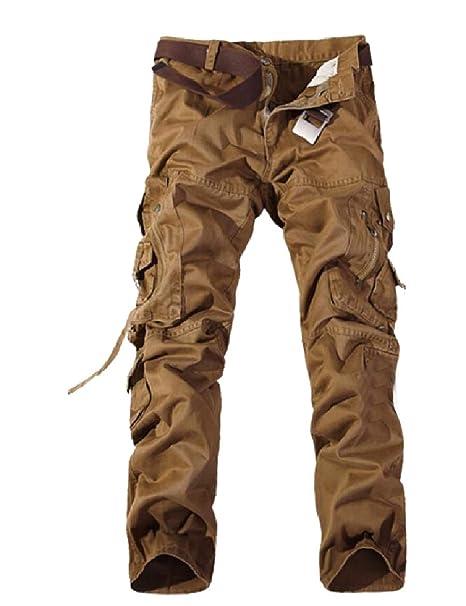 search for best shop for best huge sale Abetteric Mens Outdoor Pocket Trim Cargo Pants Oversize ...