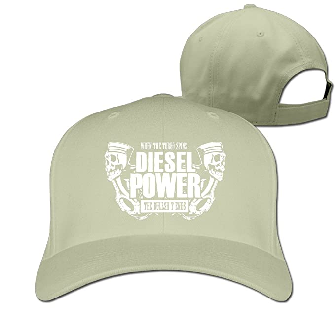Diesel Power When The Turbo Spins Plain Adjustable Sports Snapback Hats  Flatbrim Natural 2fe9f3008ac2