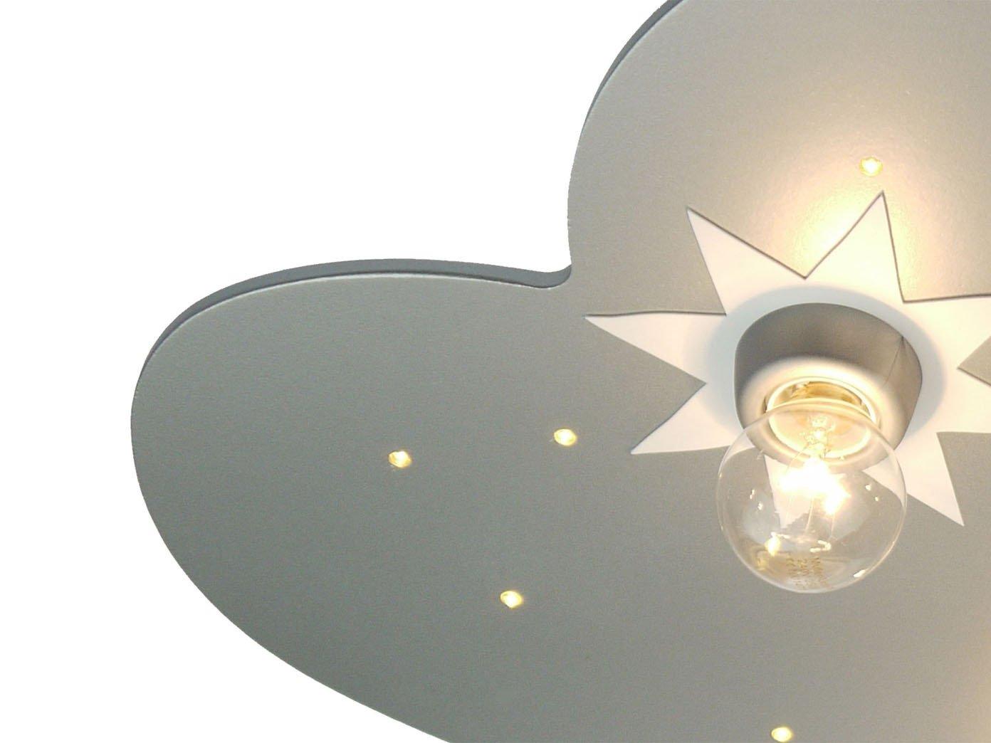 Deckenlampe Mit Zugschalter ~ Led kinder deckenleuchte wolke titan mit sternen zugschalter für