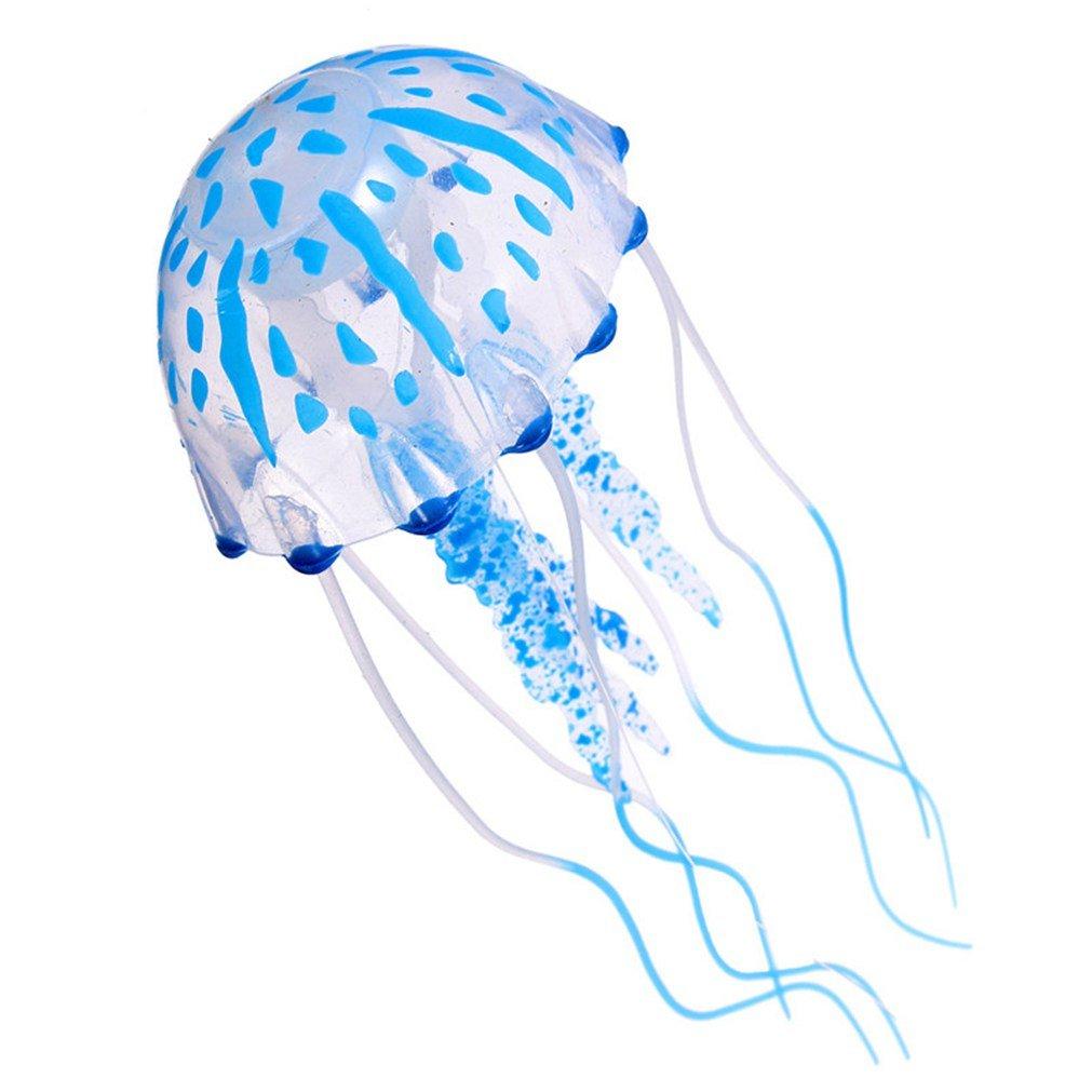Samgu Glowing Effet Jellyfish Artificiel pour Aquarium Fish Tank Ornement Décoration Swim Couleur Pink