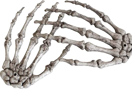 Medou Realistic Looking Skeleton Stakes Severed Plastic Skeleton Hands for Halloween Props Decorations A