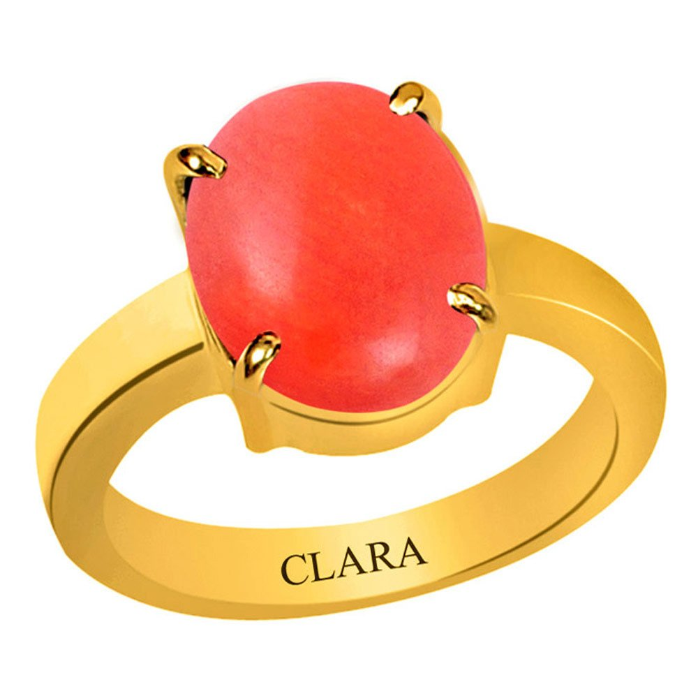 3f01f70880af23 Buy Clara Certified Coral Moonga 5.5 Carat or 6.25ratti Panchdhatu Gold  Polish Astrology Ring for Men & Women Online at Low Prices in India |  Amazon ...