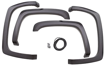 Lund SX106S Elite Series Black Sport Style Standard Front and Rear Fender  Flare, 2007 to 2013 Chevrolet Silverado 1500, 2007 to 2014 Chevrolet