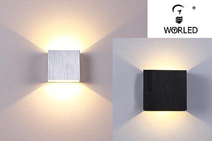 Worled lampada applique led 4 w design moderno da parete quadrato