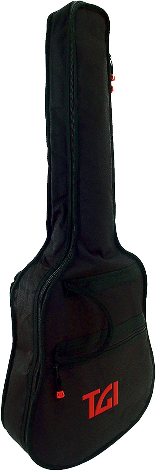 TGI 4300B - Funda para guitarra, color negro