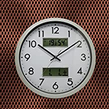 14 Inch Living Room Temperature And Humidity Fashion Mute Clock
