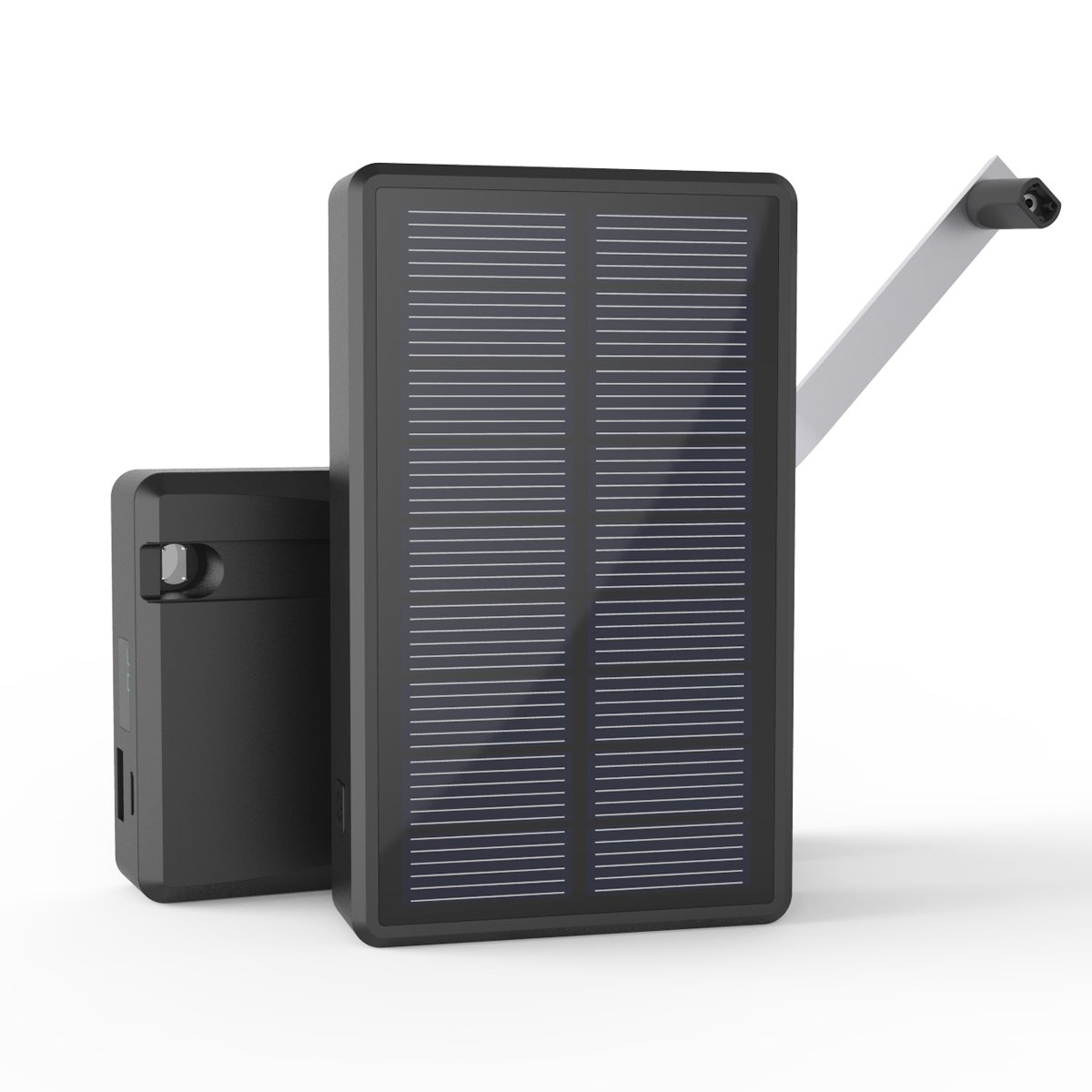 MAXOAK Solar Charger Power Bank External Battery Pack for Smartphone iPhone Samsung Android phones GoPro Camera GPS Tablet and More(7800mAh) by MAXOAK