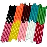 EWPARTS Ewparts 7mm * 100mm 50 pacco colorato scintillio di arte del mestiere colla a caldo pistola bastoni appiccicoso (Colored 50 pcs)