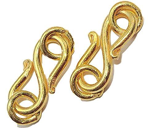 5708 2 Kupfer S Haken Verschüsse 17 Mm Vergoldet Amazonde Schmuck