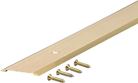 M D Building Products 9563 M D 0 Flat Top Saddle Threshold 1 3 4 In W X 36 In L X 1 8 In H X 1 3 4 W X Brite Gold Door Thresholds Amazon Com