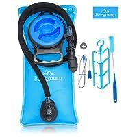 Bergcamp Trinkblase & Reinigungsset - Wasserdichte Blase ideal für den Rucksack zum Wandern, Campen oder Radfahren und geschmacklos, große Öffnung, Trinksystem Outdoor