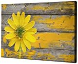 Epic Graffiti Wood Series Giclee Canvas Wall Art, 12'' x 18'', Rustic Daisy