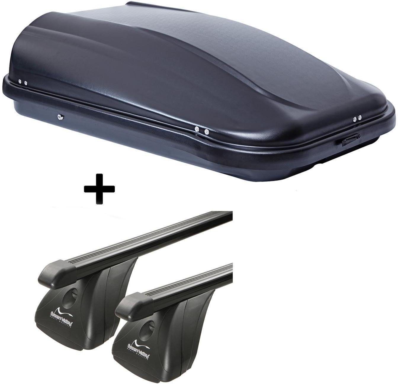 3-5T/ürer 2004-2011 Stahl Dachtr/äger Aurilis Original kompatibel mit BMW Serie 1 VDP Dachbox JUPRE320 320Ltr schwarz gl/änzend abschlie/ßbar E87
