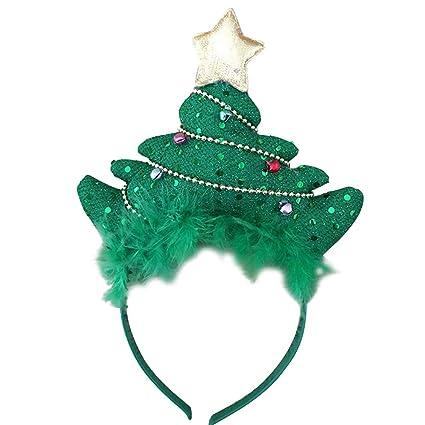 Amosfun Aro de Pelo de la Diadema del árbol de Navidad con el Headwear de la ec60a0f03c4