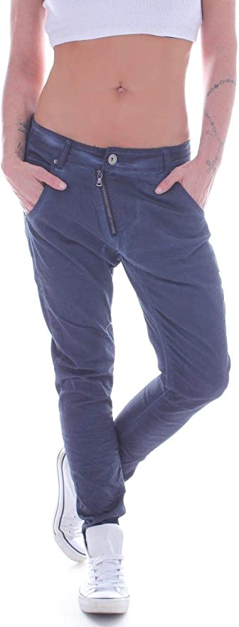 Details zu Damen Boyfriend Jeans Boyfriendhose Harem Hose Haremshose Hüftjeans Hüft DD0020