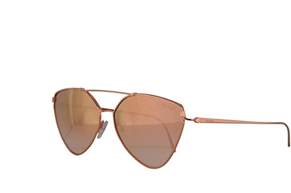 3b1064e4cb Amazon.com  Prada PR51US Sunglasses Pink Gold w Gradient Pink Mirror ...