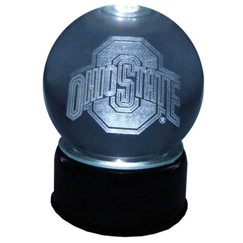 NCAA Ohio State Buckeyes Logo Laser-Etched Musical Lit Crystal ball