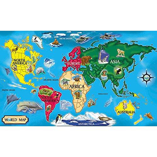 Melissa & Doug World Map Floor Puzzle, 51 Pieces