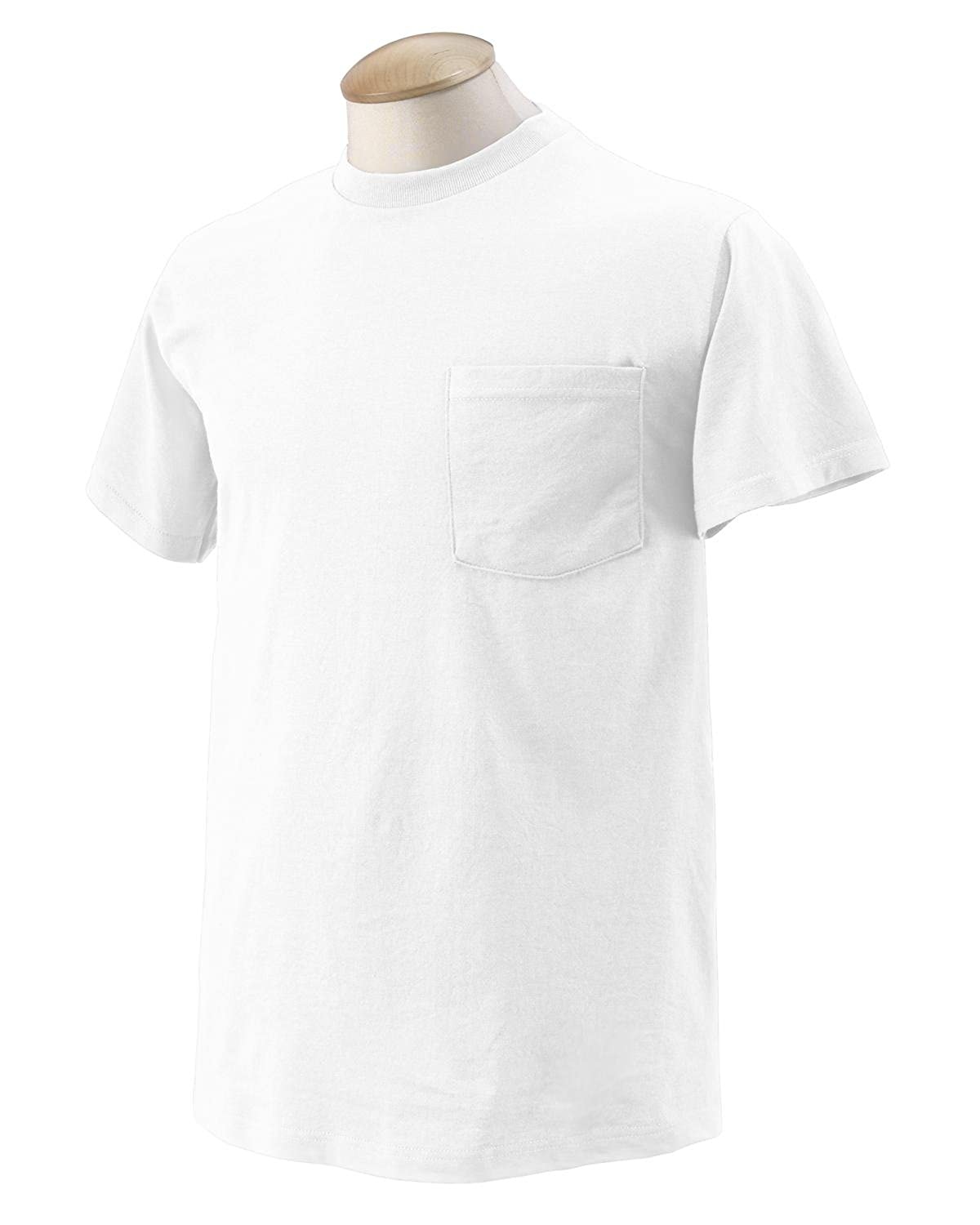 Fruit of the Loom Heavy Cotton Pocket T-Shirt, White
