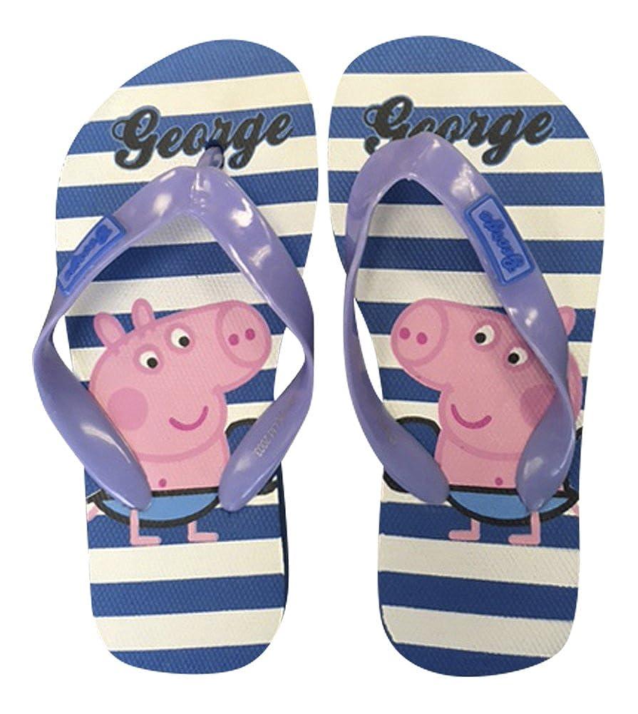 Gar/çons Enfants George Peppa Pig Chaussures Plage d/ét/é Tongs Bleus Pirates et Rayures