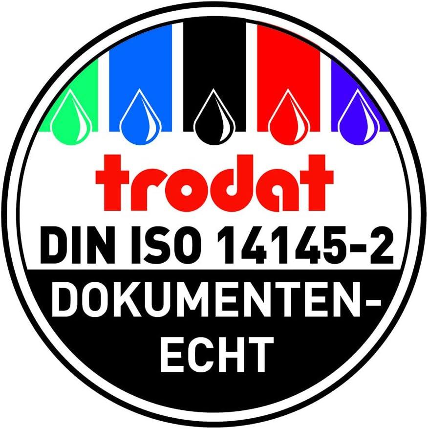 Timbro datario autoinchiostrante BEZAHLT Trodat Professional 5430