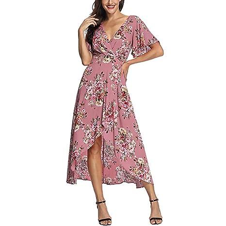 STRIR Mujeres Vestidos Verano Largo con Florales Impresa ...