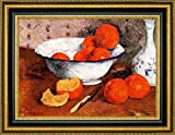 """This 8"""" x 11"""" framed premium canvas print of Still Life with Oranges by Paul Gauguin is meticulously created on artist grade canvas utilizing ultra-precision print technology and fade-resistant archival inks.Every detail of the artwork is reproduced..."""