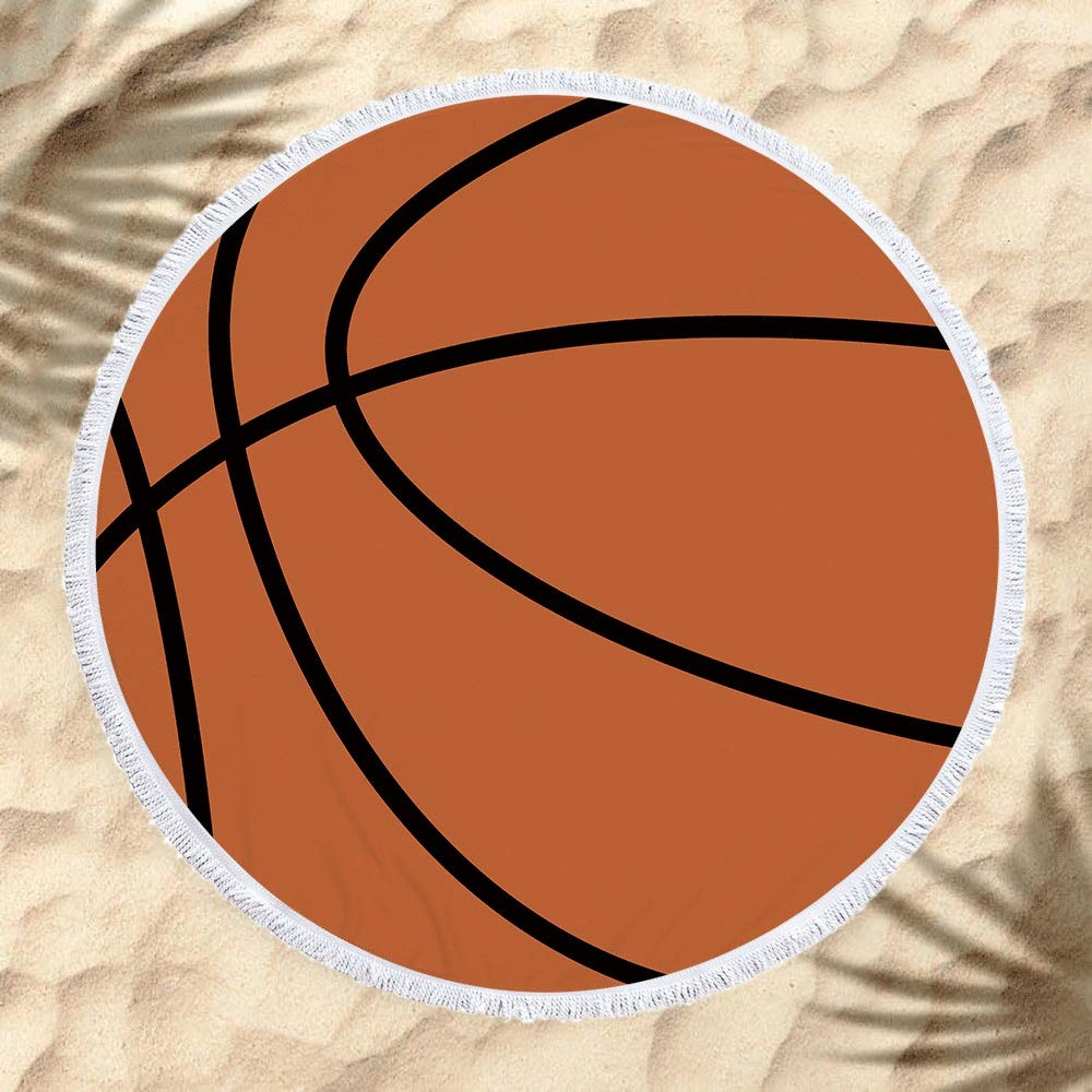 Toalla de playa Moda 59 pulgadas Baloncesto Impresión Suave ...