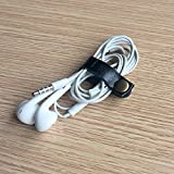 Darller 10 Pcs Leather Cable Straps Cable Tie Wraps Cord Management Holder Keeper Earphone Wrap Winder Wire Ties Cord Organizer for Work and Travel