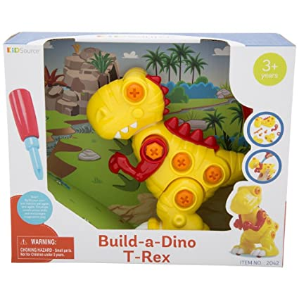KidSource Build-A-Dino - Build and Take Apart Dinosaur Toy - Construction  Play Set with Screwdriver Tool - Promotes Early STEM Learning for Ages 3  and