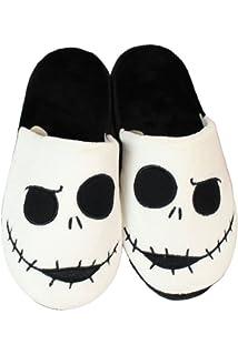 Men Jack Skellington Slippers Nightmare Before Christmas Slip Slide On Open Back
