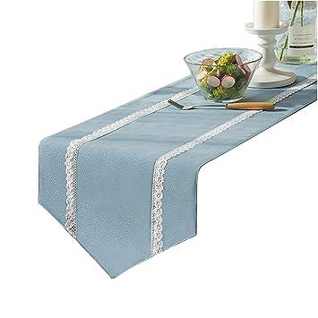 Amazon.com: WYQ Caminos de mesa azules, cocina, mesa de ...