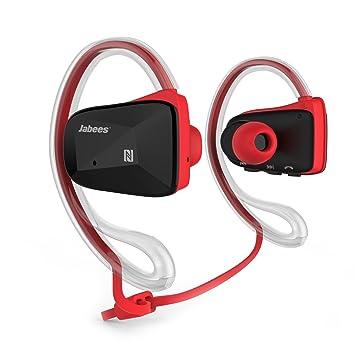 Jabees Bsport-RED - Auriculares de contorno de cuello (deportivas, Bluetooth, NFC atpX, resistente al agua) color rojo y negro (importado de Reino Unido): ...