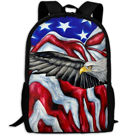 260eed690cab Amazon.com: Markui Adult Travel Hiking Laptop Backpack American ...