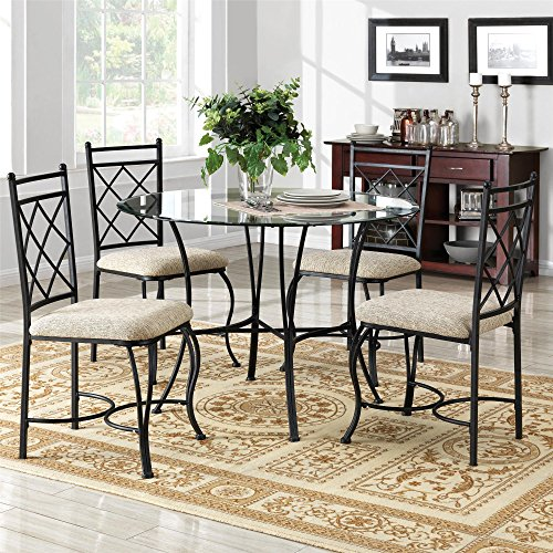 Dorel Living 5-Pc Dinette Set in Black and Beige