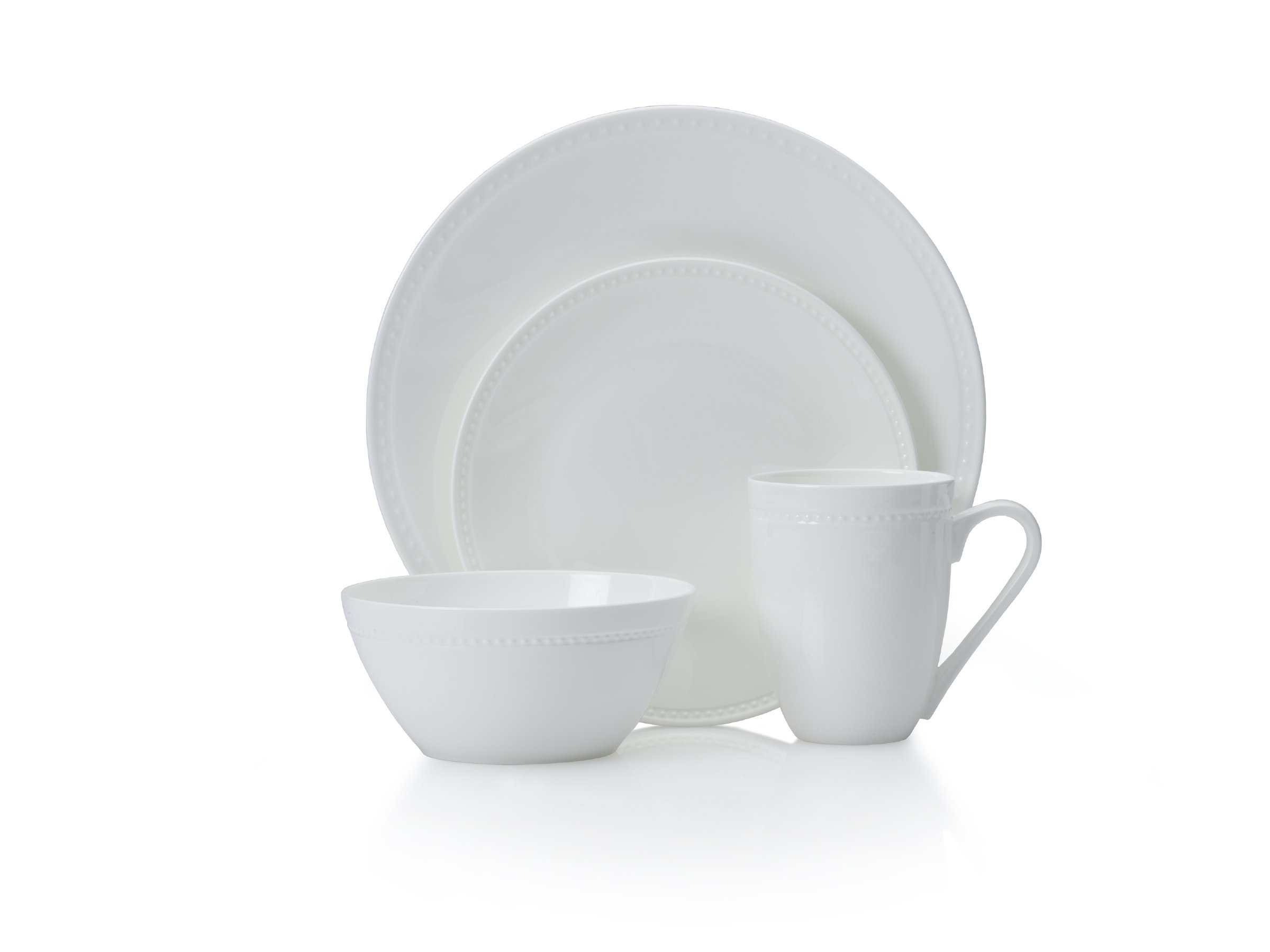 Mikasa Loria 16-Piece Bone China Dinnerware Set, Service for 4