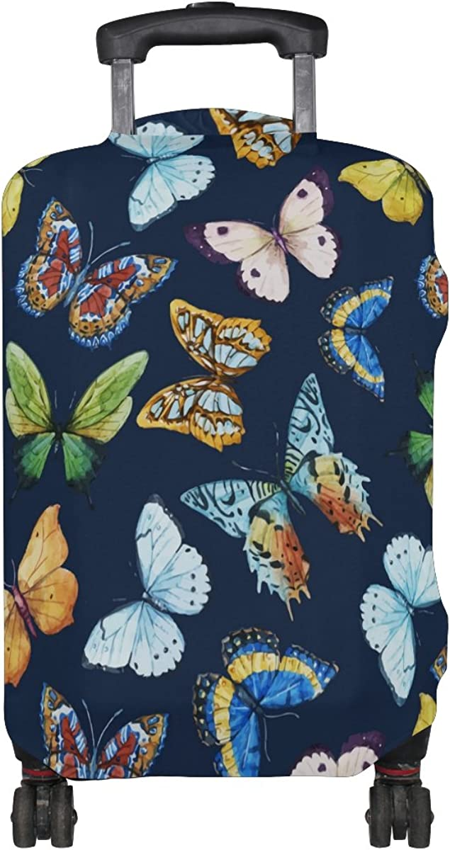 LAVOVO Watercolor Butterfly Luggage Cover Suitcase Protector Carry On Covers
