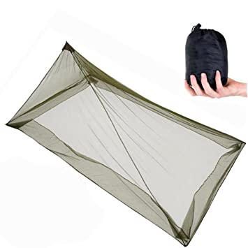 Mosquiteros al aire libre, ANGTUO solo triángulo mosquitera para acampar (220 * 120 * 100 cm): Amazon.es: Deportes y aire libre